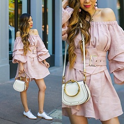 Sasa Zoe - Dress, Bag, Oxfords, Earrings - I HAVE THIS THING WITH TIERED RUFFLES
