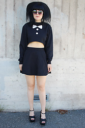Panda . - Quay Sunglasses, Asos Top, Top Shop Skirt, Asos Shoes - FREAK