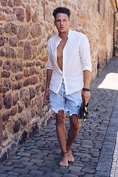 Its.max.wehner - Pull & Bear Summertime, H&M White Shirt, Replay Shoes, Topman Necklace, Forever 21 Glasses - Bohostyle :)