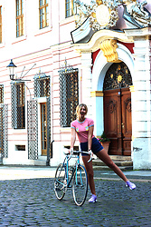 Ecaterina Rusu - The Ragged Priest Top, American Apparel Shorts, Nike Sneakers - CYCLING