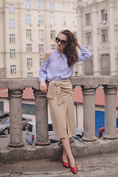 Daria Moysa - Zaful Skirt, Zaful Shirt - Pastel colors