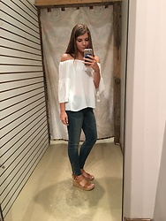 Kaitlin Manolio - White Off The Shoulder Top - White off shoulder top