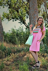 Emma MAS - Rosegal Pink Dress - Casual pink dress