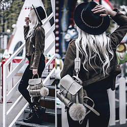Oksana Orehhova - Grafea Backpack, Koi Footwear Boots - LET'S EXPLORE
