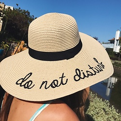 HER. Boutique - Her. Boutique Do Not Disturb Beige Straw Floppy Hat - Do Not Disturb Hat