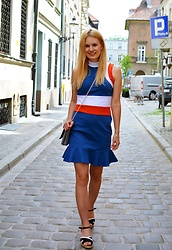 Kamila Libelula - Bonprix Dress, Bonprix Bag, Renee Shoes - BLUE RED WHITE DRESS