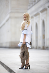 Natalia Antonieska - Zara Dress, Louis Vuitton Pochette, Valentino High Heels - |Summer in Warsaw 1|