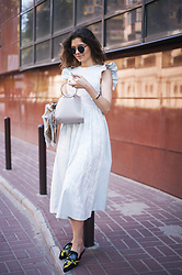 Mariia Shtanko - Vovk Dress, Zaful Mules - Aristocratic style