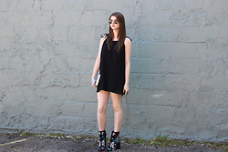 Tracie Marie - Tobi Black Dress, Rebecca Minkoff Boots - Little Black Dress and Boots