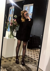 Sabrina Rehm - European Culture Black Blouse, River Island Cut Out Boots - Saturdays at work