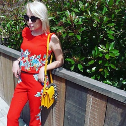 Emily Van Snick - Zara Two Piece Outfit, Zara Purse - Red spring days!
