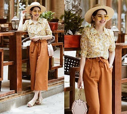 Diyora Beta - Blouse, Bag, Sunglasses, Culottes - HOW I STYLE HIGH WAIST WIDE LEG PANTS