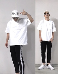 ★masaki★ - @Kid Hate, Camber 2xl Oversized Tee, Zara Jersey Line Pants, Nike Air Presto - Trash style 174