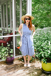 Cadyn Scott -  - Midi Dress & Boater Hat