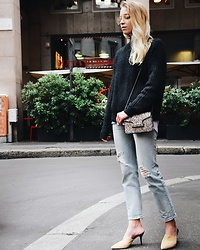 TripByTriplets B. - Christian Dior Glasses, Levi's Jeans, Mango Bag, H&M Sweater - CASUAL LOOK