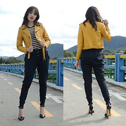 Diana Schneider - Zaful Yellow Jacket, Vida Fit Swaetpants - How To Style Sweatpants!