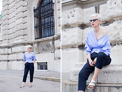 Borjana R. - Weekday Trousers, Birkenstock Shoes, Shein Blouse - High waist trousers