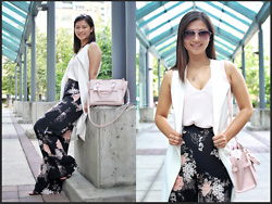 Manda L - Dynamite Palazzo Pants, Zara Long Line Vest, Charles & Keith Structured City Bag - Sleek for the Summer
