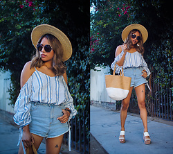 Eda Semana -  - Summer Date: Striped Cold Shoulder and Denim