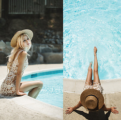 Sarah Loven - For Love & Lemons Dress, 66 The Label Straw Hat - Feels