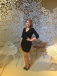 Cecilia Torres - Zara Black Dress - Campana' s brothers cocktail party