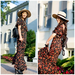 Kimberly Kong - Asos Floral Maxi Dress, Dynamic Asia Hat - Where to Buy Cute Summer Dresses for Less
