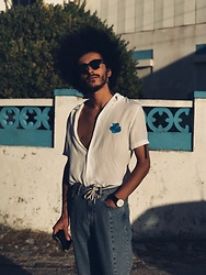 Marco Moura - Zara Shirt, H&M Jeans, Asos Watch, Asos Rayban - SUMMER LIGHTS