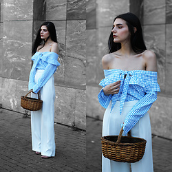 CLAUDIA Holynights - Vipme Gingham Off Shoulder Top - Picnic style