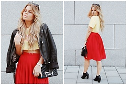 Emmy Nikolausson - H&M Skirt, River Island Bag - RED x. YELLOW ~