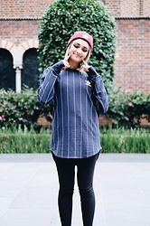 Elysa Cramer - Adidas Tokyo Pinstripe Long Sleeve T Shirt, Huf Box Logo Beanie, American Apparel Riding Pants - 3 ストライプ の ブランド