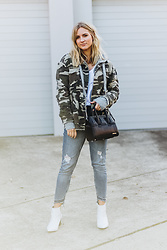 Christina Roys - Thomas Wylde Bag, Zara Jeans, Missguided Jacket - Camo Jacket
