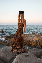 Alexe Bec - Asos Cap, Spell Designs Dress, L'une Et L'autre Sandals - Sunset in Saint-Tropez