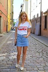 Kamila Libelula - Reserved T Shirt, Lightinthebox Skirt, Renee Shoes - Cherry Boom