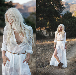 Sarah Loven - For Love & Lemons Dress, Lovestrength Belt, Free People Boots, Uyesurana Bra - Runaways