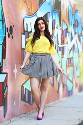 Carly Maddox - Sans Souci Yellow Top - Bright, Bold, Yellow!