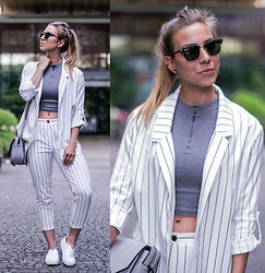 Eliska H. -  - Striped Suit