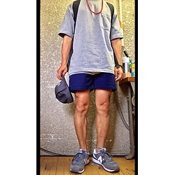Keysyu Takagi - Globalwork T Shirt, Oceanpacific Shorts, Globalwork Cap, New Balance Shoes - Outfit