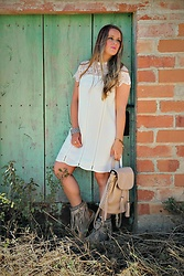 Emma MAS - Rosegal White Boho Dress - White dress & fringes