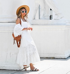 Queen Horsfall - Storets, San Diego Hat, Farfetch - White Dress Style