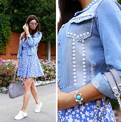 Anna Mour ♥ - Zaful Diy Denim Jacket With Pearls - Denim and pearls