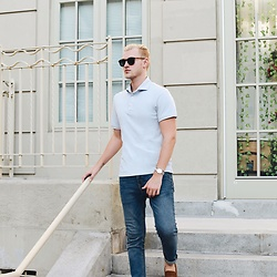 Piotr Ryterski - Kent Wang Sunglasses, Longines Watch, Kent Wang Polo, Zara Jeans, Tods Loafers - Errands and Polos