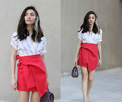 Melike Gül - Romwe Shirt, Lightinthebox Skirt - Red Crush