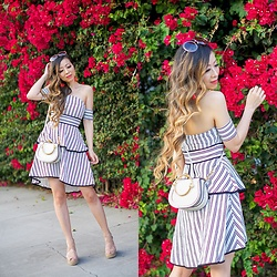 Sasa Zoe - Dress, Earrings, Sunglasses, Bag, Wedges - ENDLESS ROSE