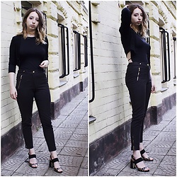 Ivana Braer - Bershka Top, Oasis Pants, Indiana Heels - Couple Goals - Black+Gold