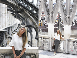 Natalia Romashko - H&M Top, Bimba&Lola Pants, Louis Vuitton Bag, Daniel Wellington Watch - Duomo di Milano