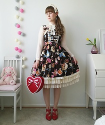 Mari Susanna - Zara Blouse, Innocent World Headbow, Dress & Underskirt, Baby The Stars Shine Bright Bag, Minna Parikka Shoes - Hearts & treats
