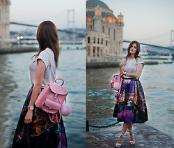 Viktoriya Sener - Chic Wish Skirt, Grafea Backpack - SUNSET