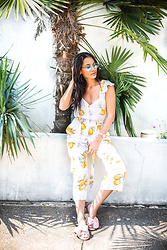 Alexandra Lord - For Love & Lemons Limonada Jumpsuit, Avec Les Filles Slides, Daniel Wellington Classic Petite, Urban Outfitters Shades - SUMMER LOVIN'