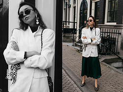 Bea G - Blazer, Bag, Shoes - Give The Girl A White Masculine Blazer