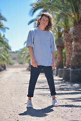 Enea Nastri - Fat Face Oversized Top, Zara Tapered Pants, Nike Af1 - Garden